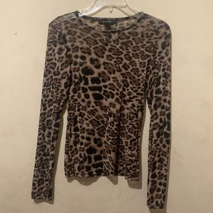 Forever 21 See-Through Leopard Print Shirt